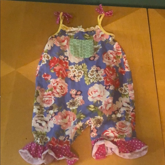 Matilda Jane Going Places Romper Size 18-24 Months New In Bag Baby Blue